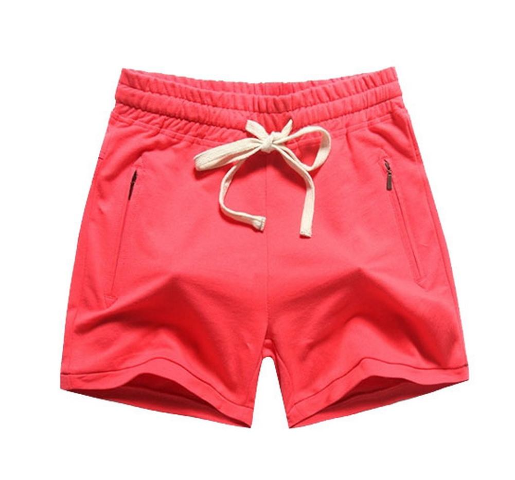 Black Temptation Plus Size Women Workout Short Red Cotton Short