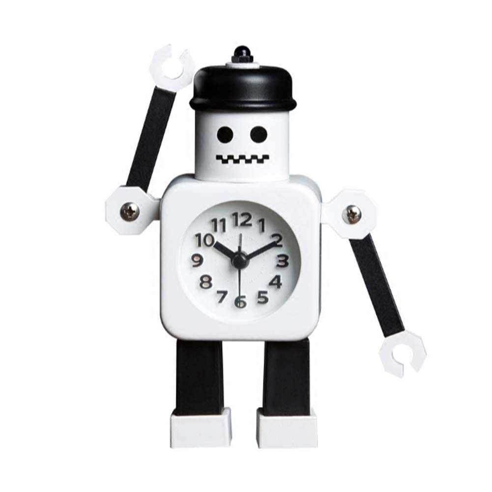 Panda Superstore Cute Panda-Shaped Alarm Clock For Kids With Night-Light Black&White