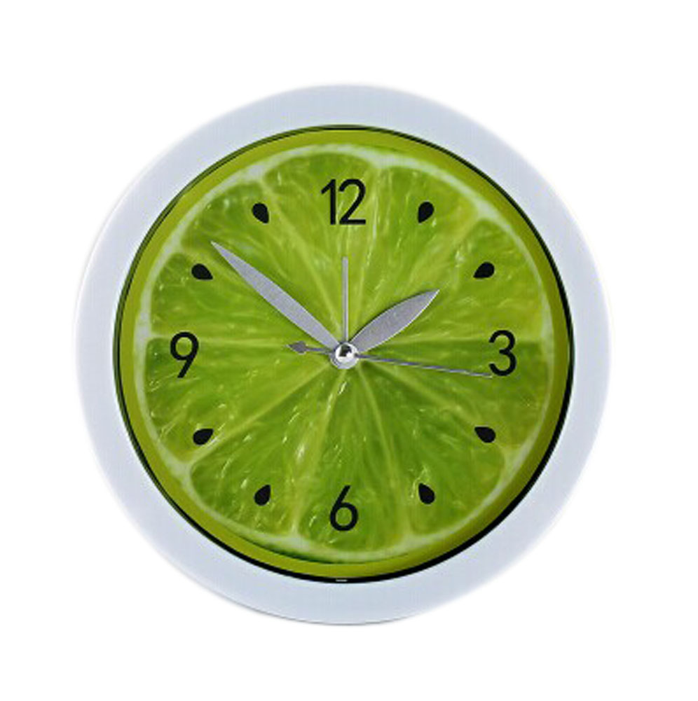 Panda Superstore Creative Plastic Lemon-Shaped Alarm Clock With Night-Light Green