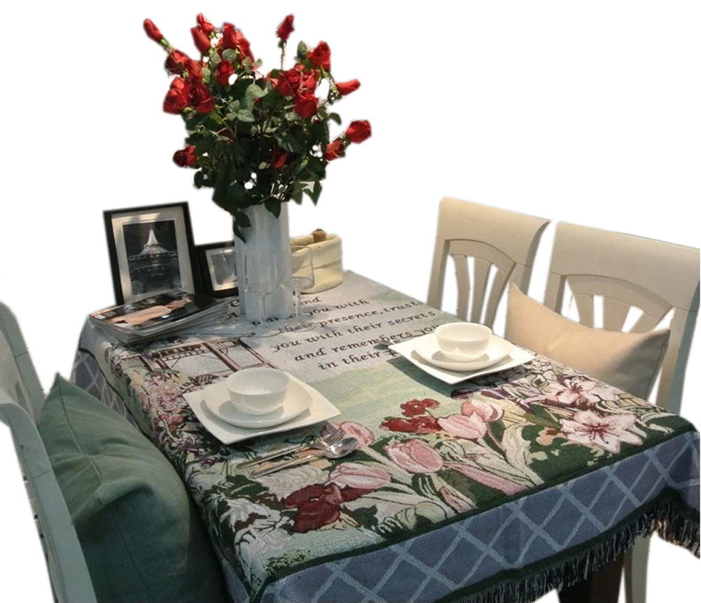 Panda Superstore Roses Country Style TableclothsTable