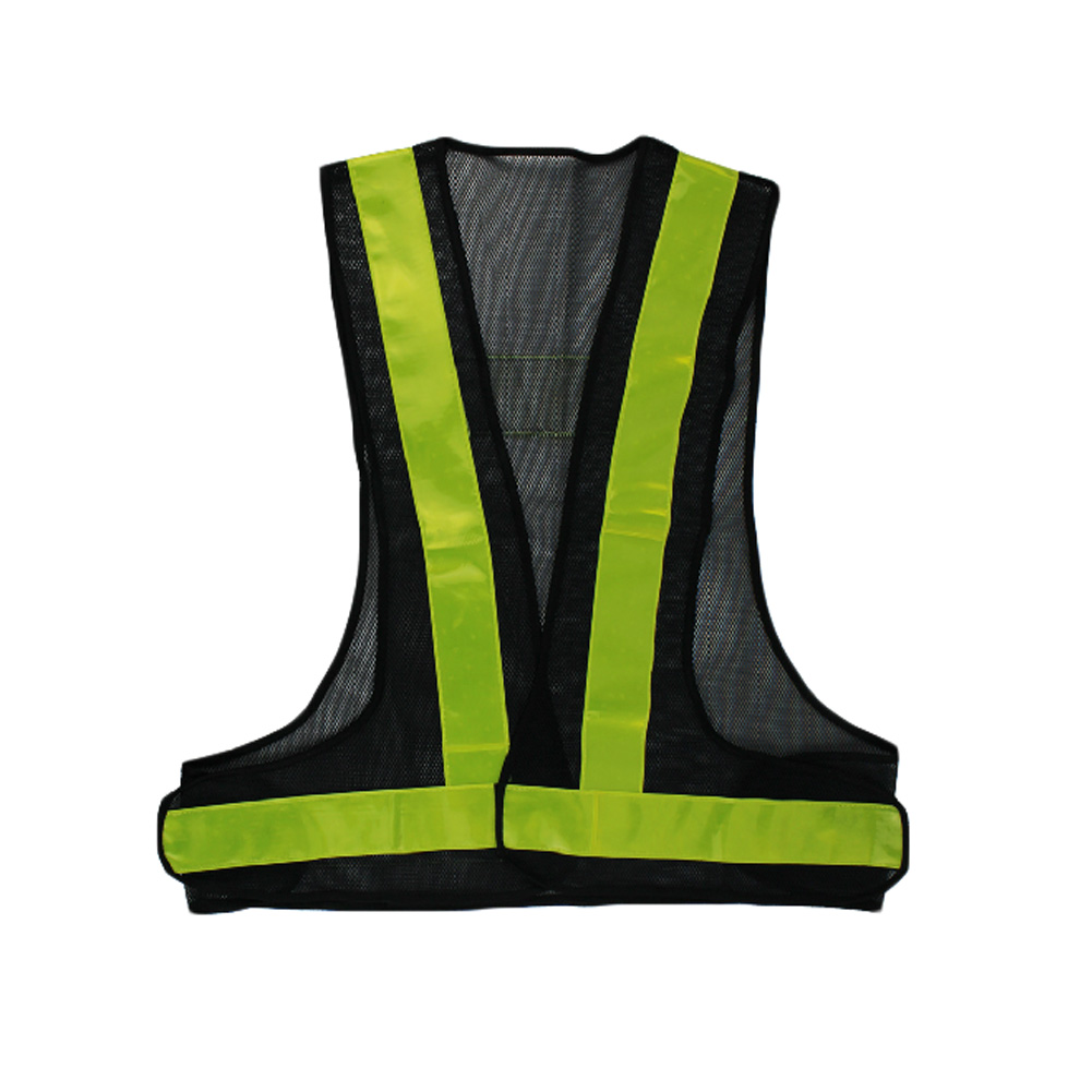 Panda Superstore Ultra Visible Mesh Fabric Reflective Running Safety Vest (Neon Green)